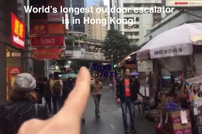World´s longest escalator Hong Kong
