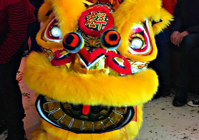Chinese New Year 2016 Lion Dance in Hong Kong