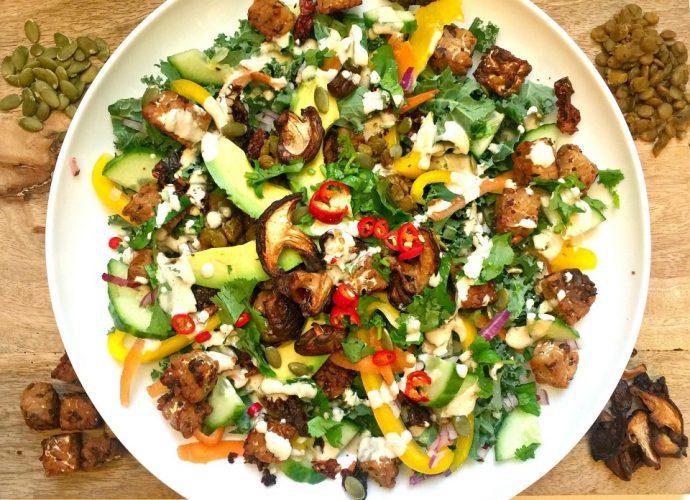 Longevity Tempeh Salad